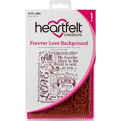 Heartfelt Creations - Heartfelt Love Collection - Forever Love Background Cling Stamp Set