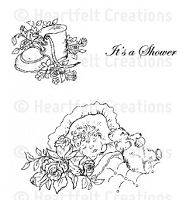 Heartfelt Creations - Sweet Lullaby Collection - Cling Stamp - Sweet Dreams