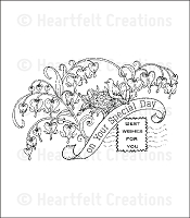 Heartfelt Creations - Romantique Garden Collection - Cling Stamps - Home is Where the Heart Is