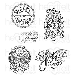 Heartfelt Creations - Special Edition Stamps - All Things Are Possilbe Cling Stamp Set
