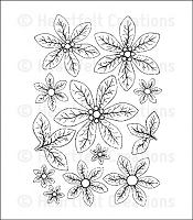 Heartfelt Creations - Cling Stamp - Christmas Poinsettia