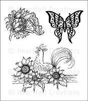 Heartfelt Creations - Classic Sunflower Collection - Cling Stamp - Summer's Day