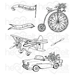 Heartfelt Creations - Young At Heart Collection - Young At Heart Cling Stamp Set