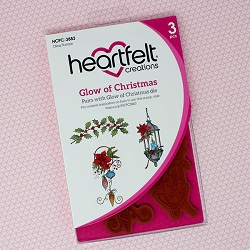 Heartfelt Creations - Candlelit Christmas Collection - Glow Of Christmas Cling Stamp Set