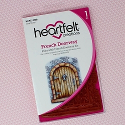 Heartfelt Creations - French Cottage Collection - French Doorway Cling Stamp Set