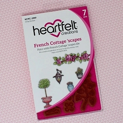 Heartfelt Creations - French Cottage Collection - French Cottage 'scapes Cling Stamp Set