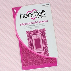 Heartfelt Creations - Majestic Frames Collection - Majestic Swirl Frames Die