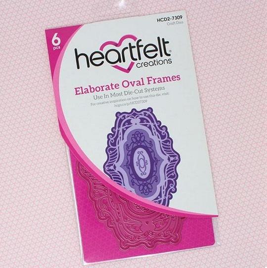 Heartfelt Creations Spellbinders Die ~ ELABORATE OVAL FRAMES ~ HCD2-7309