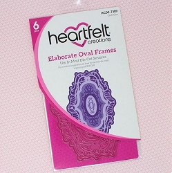 Heartfelt Creations - Majestic Frames Collection - Elaborate Oval Frames Die