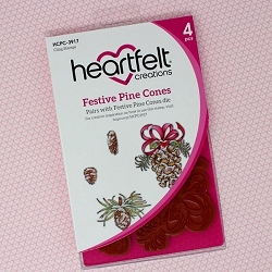 Heartfelt Creations - Snowy Pines Collection - Festive Pine Cones Cling Stamp Set