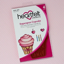 Heartfelt Creations - Sugarspun Collection - Sugarspun Cupcake Cling Stamp Set