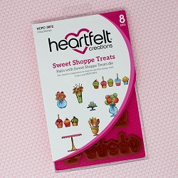 Heartfelt Creations - Sugarspun Collection - Sweet Shoppe Treats Cling Stamp Set