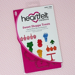 Heartfelt Creations - Cutting Die - Sugarspun Collection - Sweet Shoppe Treats Die