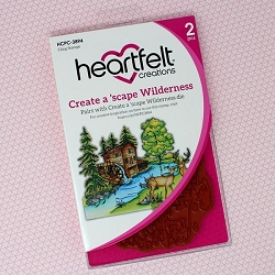 Heartfelt Creations - Wilderness Retreat Collection - Create A 'scape Wilderness Cling Stamp Set