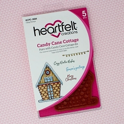 Heartfelt Creations - Candy Cane Cottage Collection - Candy Cane Cottage Cling Stamp Set
