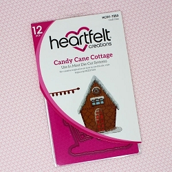 Heartfelt Creations - Cutting Die - Candy Cane Cottage Collection - Candy Cane Cottage Die