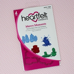 Heartfelt Creations - Cutting Die - Candy Cane Cottage Collection - Merry Moments Die