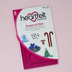 Heartfelt Creations - Cutting Die - Candy Cane Cottage Collection - Season of Glee Die