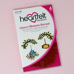 Heartfelt Creations - Cherry Blossom Retreat Collection - Cherry Blossom Retreat Cling Stamp Set
