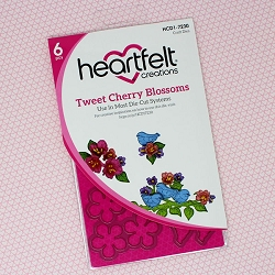 Heartfelt Creations - Cutting Die - Cherry Blossom Retreat Collection - Tweet Cherry Blossoms Die