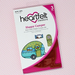 Heartfelt Creations - Happy Camper Collection - Happy Camper Cling Stamp Set