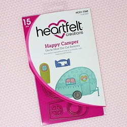 Heartfelt Creations - Cutting Die - Happy Camper Collection - Happy Camper Die