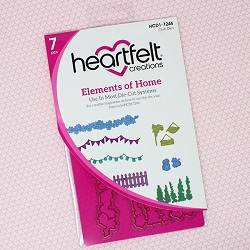 Heartfelt Creations - Cutting Die - Happy Camper Collection - Elements of Home Die