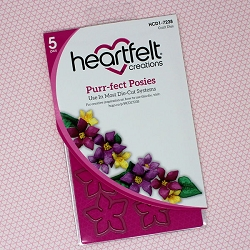 Heartfelt Creations - Cutting Die - Purr-Fect Posies Collection - Purr-Fect Posies Die
