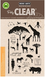 Hero Arts - Clear Stamp - Safari Wild About You