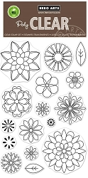 Hero Arts - Clear Stamp - Blossoms for Coloring