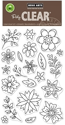 Hero Arts - Clear Stamp - Flowers for Coloring