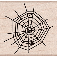 Hero Arts - Wood Mounted Rubber Stamp - Spider In Web