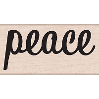 Hero Arts - Wood Mounted Rubber Stamp - Bold Peace