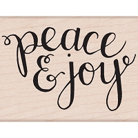 Hero Arts - Wood Mounted Rubber Stamp - Peace & Joy