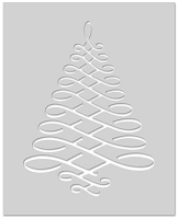 Hero Arts - Stencil - Calligraphic Tree Stencil