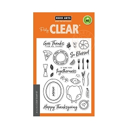 Hero Arts - Clear Stamp - Thanksgiving Table