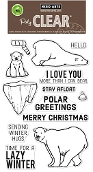 Hero Arts - Clear Stamp - Polar Greetings