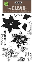 Hero Arts - Clear Stamp - Color Layering Poinsettia