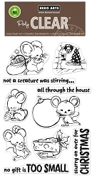 Hero Arts - Clear Stamp - Christmas Mice