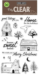 Hero Arts - Clear Stamp - Home for the Holidays
