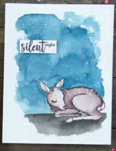 Hero Arts Color Layering Fawn Clear Unmounted Rubber Stamp Set CM283