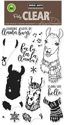 Hero Arts - Clear Stamp - Color Layering Fa La Llama