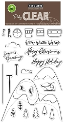 Hero Arts - Clear Stamp - Ski Holiday