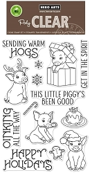 Hero Arts - Clear Stamp - Sending Warm Hogs