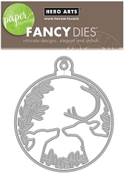 Hero Arts - Fancy Die - Deer and Ornament