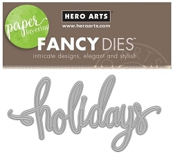 Hero Arts - Fancy Die - Holidays Word