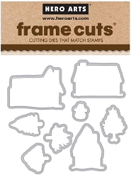 Hero Arts - Frame Cuts Die - Home for the Holidays