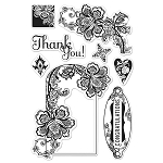 Hero Arts Clear Stamp (for Basic Grey)-Little Black Dress-Love & Lace