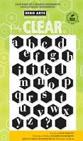 Hero Arts - Clear Stamp - Alphabet Hexagons