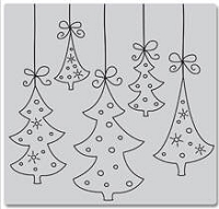 Hero Arts-Cling Rubber Stamp-Hanging Trees :)